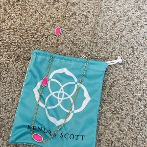 Long Pink Kendra Scott Necklace